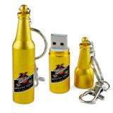 ビール瓶は形づけた金属OEM USBのフラッシュ駆動機構(YT-1216)を