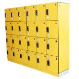 18 Doors Mixed Color Coin HPL Locker for Public Building