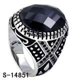Anello di Zirconia dei monili dell'argento sterlina dell'anello 925 degli uomini