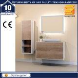 Governo di legno di vanità della stanza da bagno della lacca bianca della melammina con i piedini