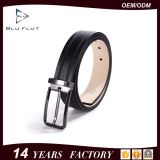 最上質の方法カスタム黒い仕上げのバックルの革ベルト