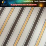 Tela de materia textil de la raya del poliester en la materia de efectivo para la ropa (S59.60)