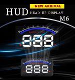 M6 la visualización ascendente OBD2 de la pista de Hud del coche de 3.5 pulgadas enchufan las existencias