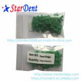 치과 플라스틱 부분적인 윤곽을 그린 녹색 쐐기(wedge)