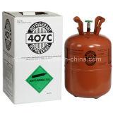 R407c Mixed Refrigerant Gas avec OEM Brand de 11.3kg/25lb N.W. Disposable Cylinder