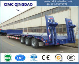 Asse Cimc 3 60 tonnellate di trasporto dell'escavatore della base di rimorchio di telaio basso del camion