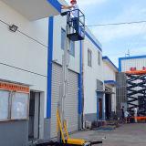 Aluminiumlegierung-einzelner Mast-Arbeitsbühne-Aufzug (9m Höhe)