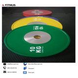 La competencia y las placas de paragolpes Barbell Set de peso, para el levantamiento de pesas Olímpico, la fuerza y condicionamiento, Cross-Training