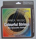 Guitarra acústica Corda de cor / corda de guitarra / corda de cores
