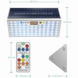 Voyant de contrôle à distance 76 15W 1700lm capteur radar à micro-ondes en aluminium de 6 modes de travail lumière solaire de jardin