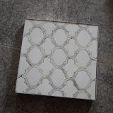 Плитка мозаики арабескы белого мраморный фонарика Carrara водоструйная