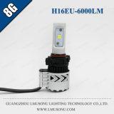 Lmusonu 최신 판매 8g H16EU LED 자동 헤드라이트 높은 밝은 팬 디자인 크리 말 Xhp50 6000lm 35W