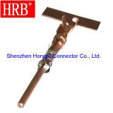 Conector terminal masculino del cobre automotor del prensado