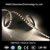 부엌 찬장을%s 에너지 절약 24V SMD5630 75LEDs/M 유연한 LED 지구