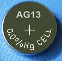 Batterie alkaline de cellules du bouton AG13