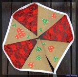 Arpillera y encajes banderas Bunting decorativos para Navidad o boda
