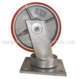 8Dans le secteur industriel Super Heavy Duty Roue en acier enduit PU Swviel roulette