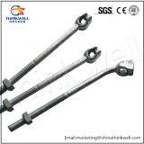 La forja de piezas de acero galvanizado Energía Eléctrica Montaje del aislador