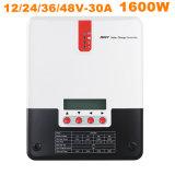 Do regulador solar solar solar do carregador 12V do controlador 30A 48V 1600W da carga de MPPT carregador solar da C.A. do controlador 36V do carregador