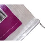 La bolsa de plástico tejida PP transparente de la insignia de la impresión para el embalaje de la harina