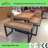 正方形の鋼鉄木製の実験室ベンチの家具中国(HL-GM023)