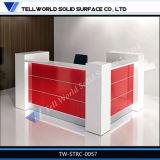 Fantastischer Entwurfs-künstlicher Marmorempfang-Schreibtisch mit LED-Licht