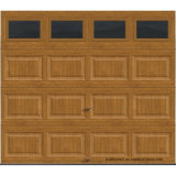 Clopay Galerie-Ansammlung kurze Panel-Garage-Isoliertür mit bearbeitetes Eisen-Fenster