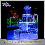 El adorno multi de la nueva decoración cuadrada al aire libre LED del día de fiesta enciende la fuente