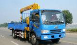 FAW 기중기를 가진 트럭 8-12 톤 화물