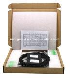 Divisore ottico nero del PLC della fibra del contenitore di ABS di colore 1X4 con il connettore 2.0mm di Sc/APC 1m G657A1