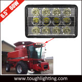 12V 6X4em 60W Holofote LED de feixe rectangular Farol do Trator para Case IH