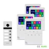 """4ボタンのホームセキュリティー4.3の""""インターホンのメモリビデオドアの電話通話装置"""