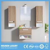 Bela casa de banho de design com armários de 2 espelhos laterais e luzes LED HS-E1102-600