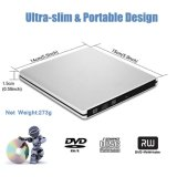 Gravador de DVD externo USB3.0 Queimador de unidade de CD Player para Mac/notebook/PC (Preto)