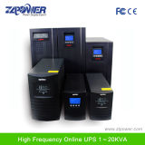 ISO9001 de alta qualidade do fabricante do UPS 1kVA 2kVA 3kvahigh Frequência dupla conversão UPS on-line IGBT com 1 horas de tempo de back-up