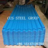 La Chine Fabricant prépeint couché couleur métal en feuille de toiture en carton ondulé