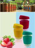 BPA는 승진 선물을%s 실리콘 소매를 가진 12 Oz 붕규산 유리 커피 잔을 해방한다
