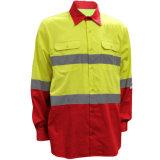 Overhemd van het Werk van de Veiligheid van de Brand van twee Mensen van de Koker van de Toon het Lange Beschermende