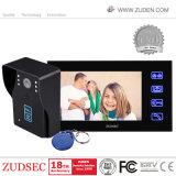 Videowechselsprechanlage-Tür-Telefon mit Identifikation-Kartenleser, Noten-Taste
