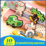 KidsのためのDesign一義的なCustom Eco Friendly Rubber PVC 3D Cute Cartoon Fridge Magnet Bottle Opener