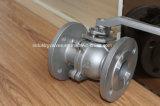 Inox 300lb 150lb / Cuerpo División Ss con brida Válvula de bola