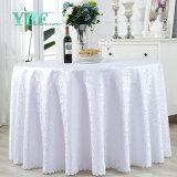 Круглый стол из полиэфирного волокна белого цвета ткани белых свадьбы крышки стола