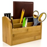 Caddy pour l'organiseur de bureau Fournitures de bureau porte-plumes & Accessoires de bureau faite de Bambou biologique