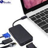 Adaptateur USB-C, Cabledeconn multiport-Type C C USB 3.1 à DP VGA DVI HDMI Câble convertisseur 4K de l'adaptateur pour ordinateur portable