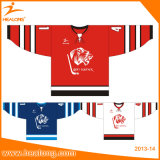 Black/Red Color Ice Hockey 저어지의 Healong Customized Grapic Design