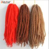 Оплетки закрутки Afro оплетки волос Marley волокна Kanekalon выдвижение 100% волос Kinky синтетическое Lbh 019