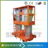 platforms Kleine Manlift van de Lift van het Werk van de Legering van het Aluminium van 10m de Rechte met Ce