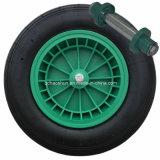 車軸が付いている空気のゴム製車輪
