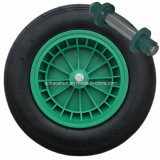 Neumático ruedas de caucho con Eje
