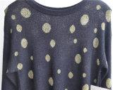 Frauen kopierten langer Hülsen-Pullover gestrickte Strickjacke